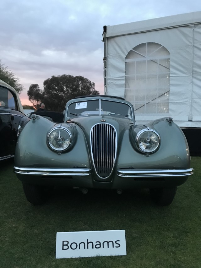 1952 Jaguar XK120 Fixed-Head Coupe Bonhams Scottsdale Arizona 2020