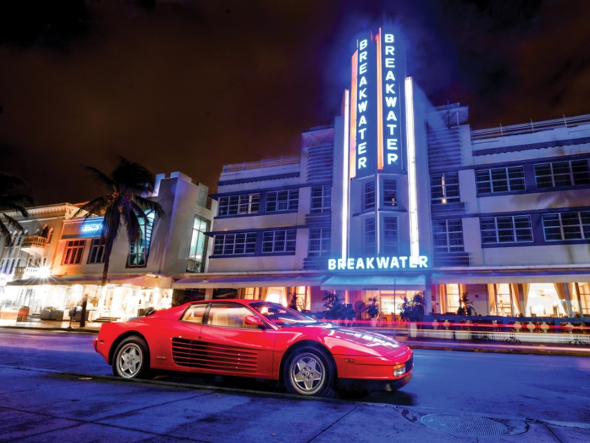 Ferrari Testarossa Miami Vica Breakwater Neon