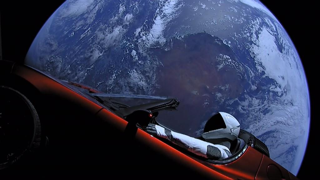 Elon Musk's Tesla Roadster In Orbit