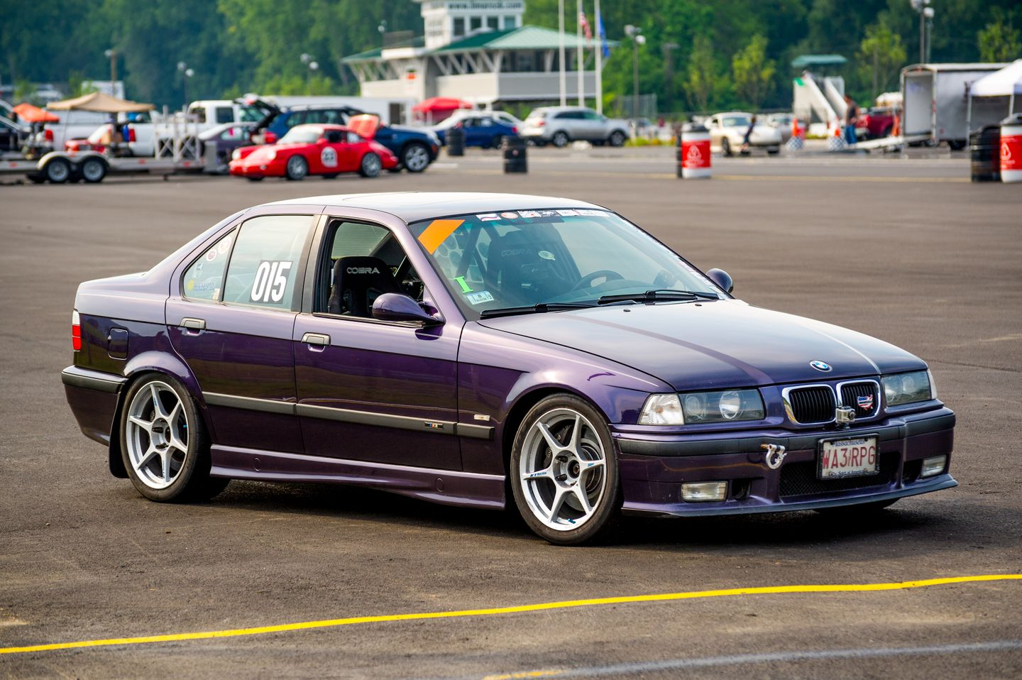 BMW E36 M3 Sedan Techno Violet Metallic Kosei K1