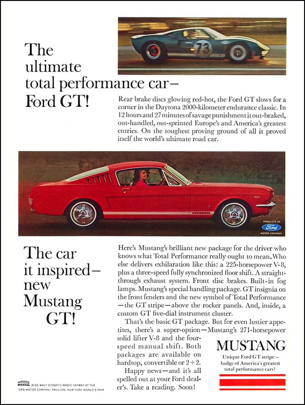 1965 Ford Mustang GT Print Ad