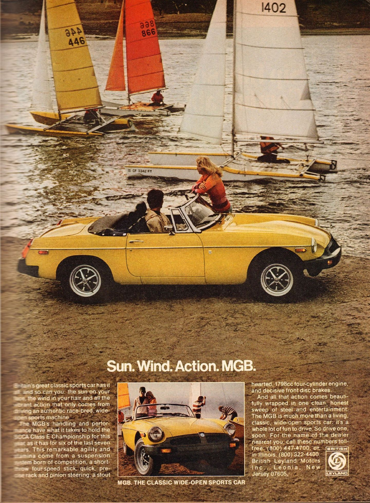 1970s MG MGB Ad