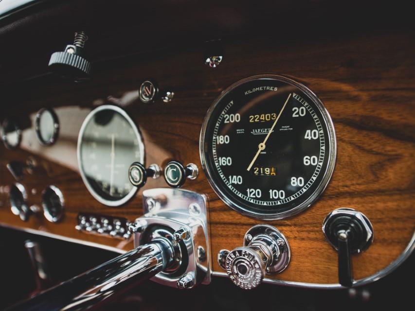 Bugatti Type 57S Odometer Jaeger