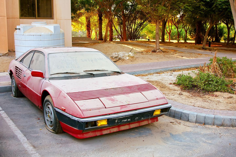 Ferrari 308 abandoned