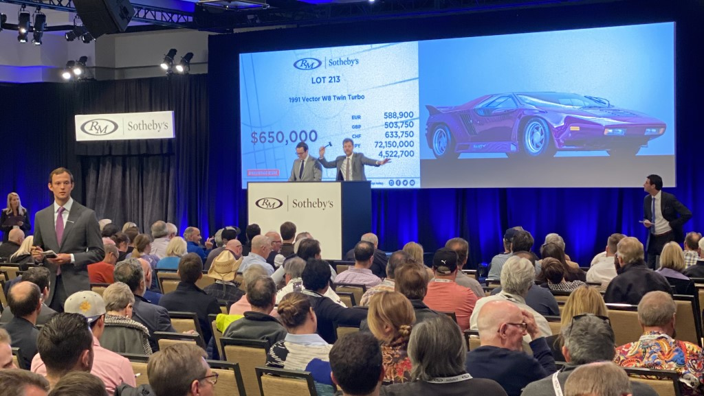 RM Sotheby's Scottsdale 2020 1991 Vector W8 Twin-Turbo